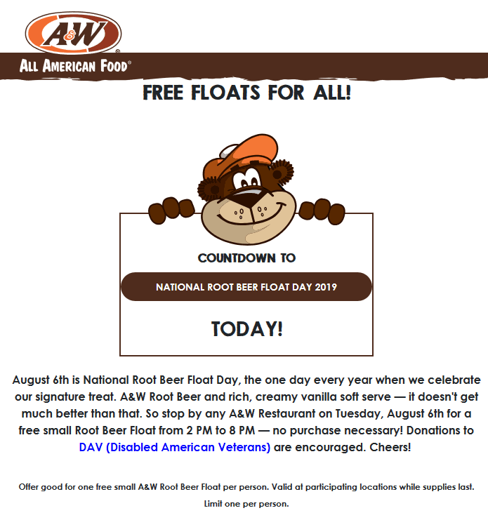 A&W coupons & promo code for [April 2021]