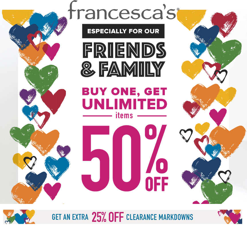 Francescas coupons & promo code for [April 2021]