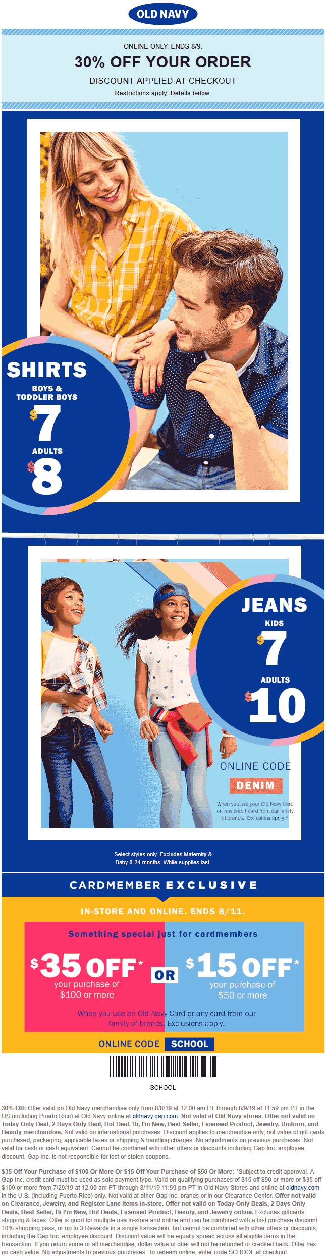 Old Navy coupons & promo code for [September 2020]