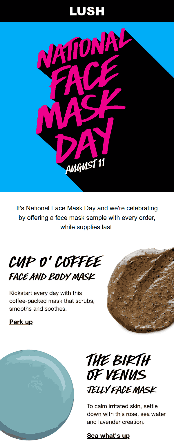 Lush coupons & promo code for [August 2020]