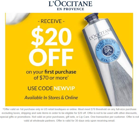 LOccitane coupons & promo code for [December 2020]