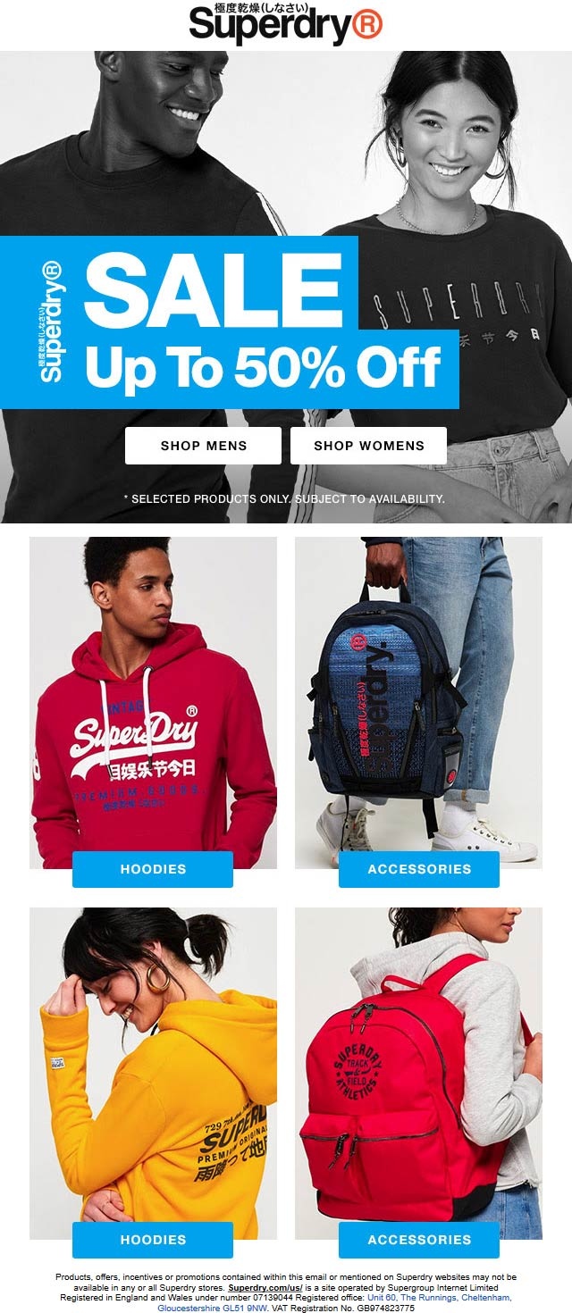 Superdry coupons & promo code for [August 2020]