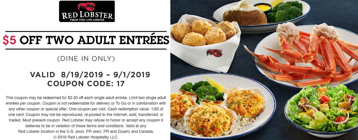 Red Lobster coupons & promo code for [January 2021]