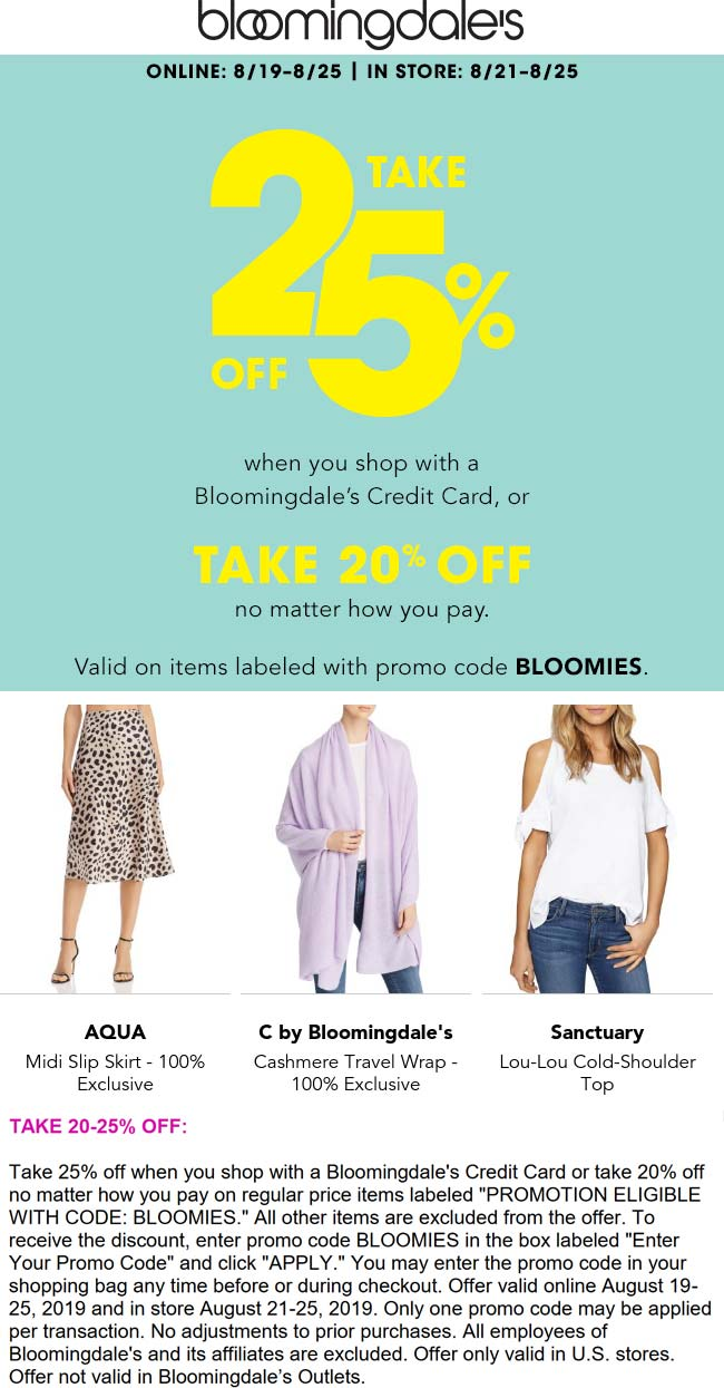 Bloomingdales coupons & promo code for [May 2021]