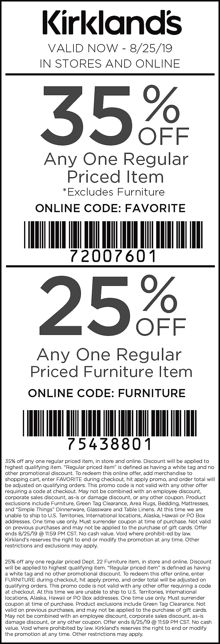 Kirklands Coupon November 2019 35% off a single item at Kirklands, or online via promo code FAVORITE