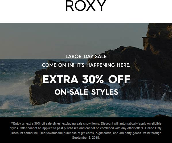 Roxy coupons & promo code for [May 2021]