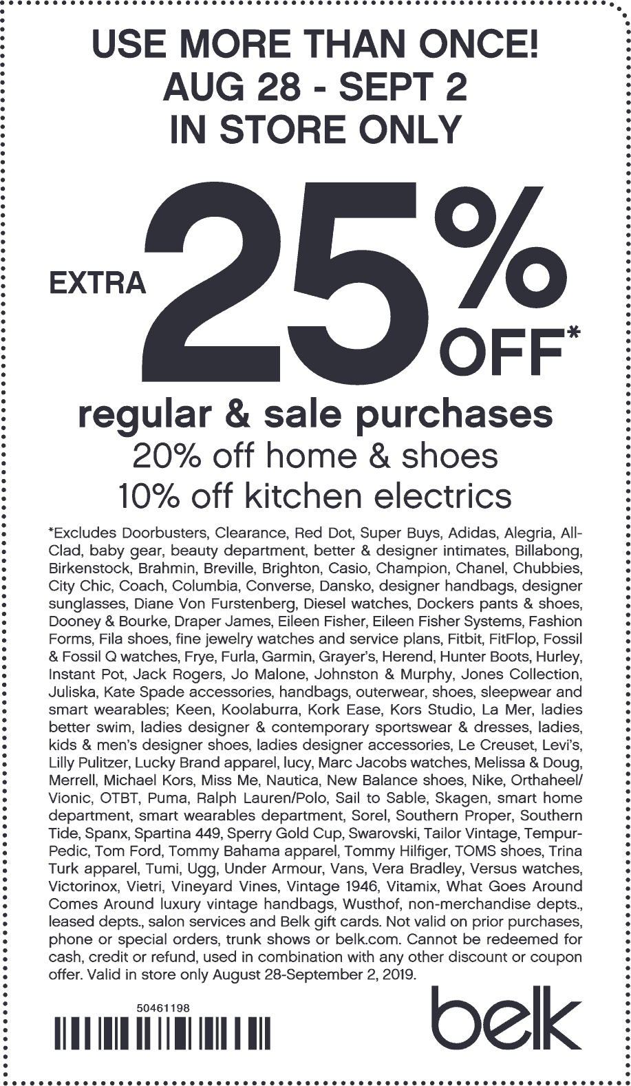 Belk Coupon November 2019 Extra 25% off at Belk, or online via promo code LABORDAYSAVE