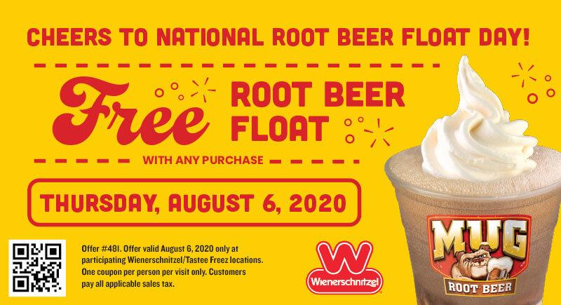 Free root beer ice cream float with any order today at Wienerschnitzel restaurants #wienerschnitzel
