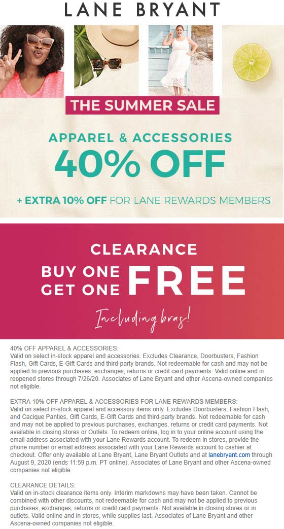 40% off & second clearance item free at Lane Bryant #lanebryant