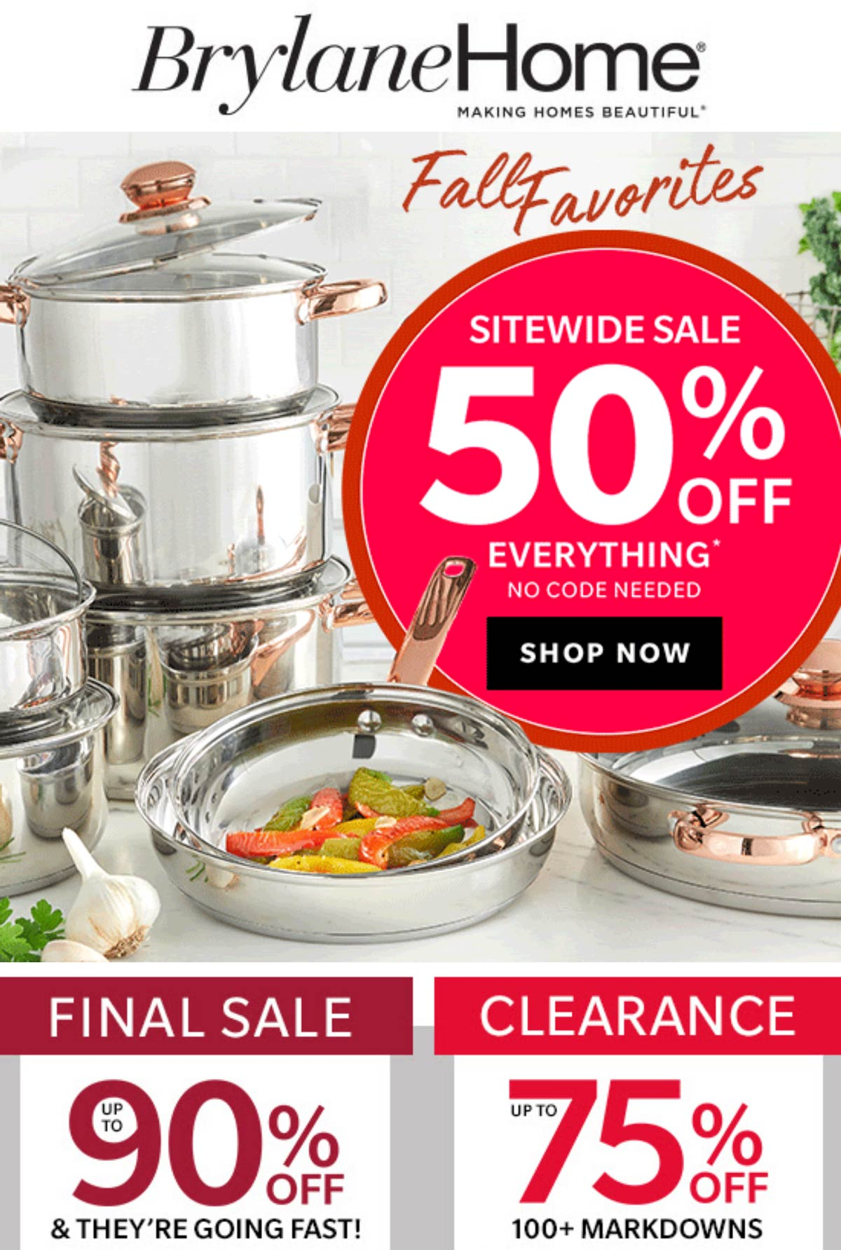 Brylane Home stores Coupon  50% off everything at Brylane Home catalog #brylanehome