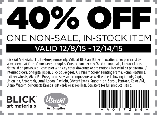 Like Blick Art Materials coupons? Try these...