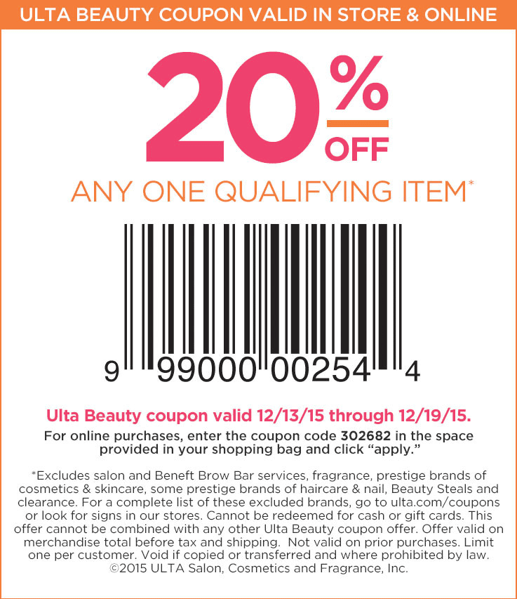 Ulta 20 Off Prestige August 2019