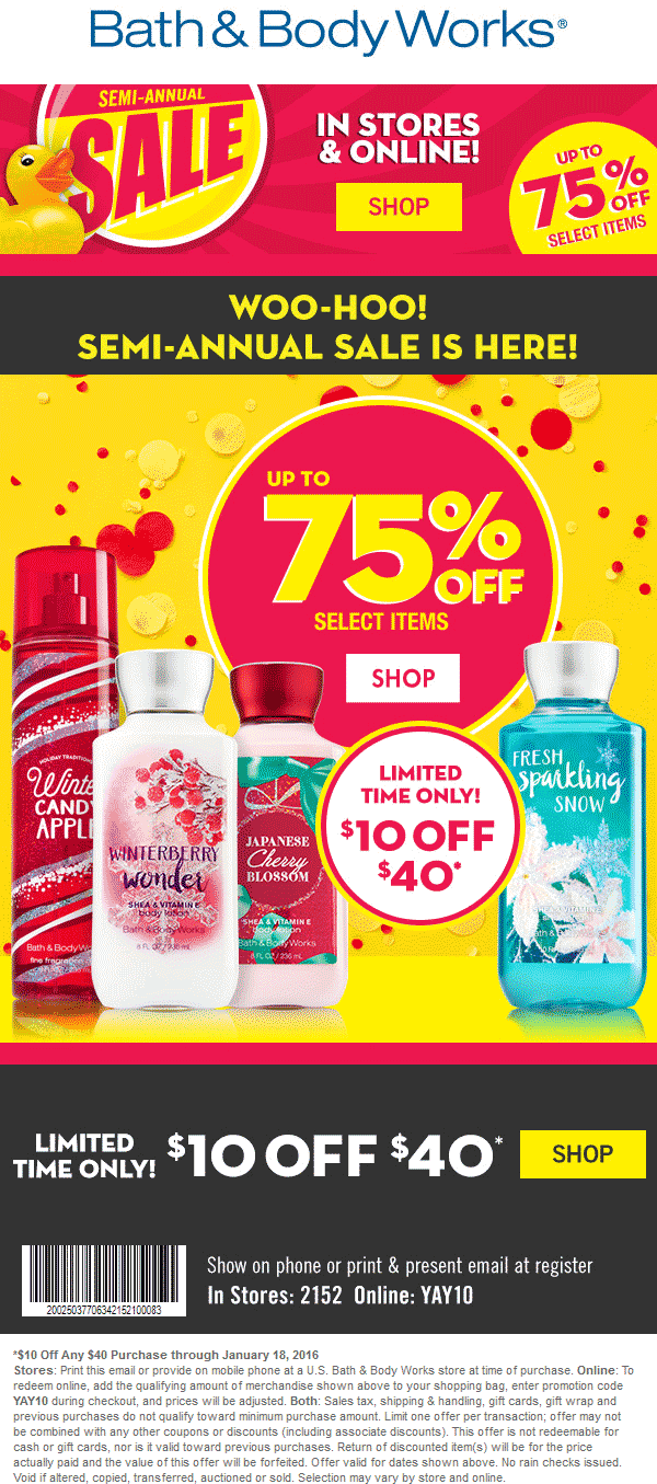 This is a photo of Agile Bath and Body Works Coupons in Store Printable 2020