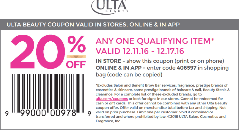 Ulta Freebies Coupon