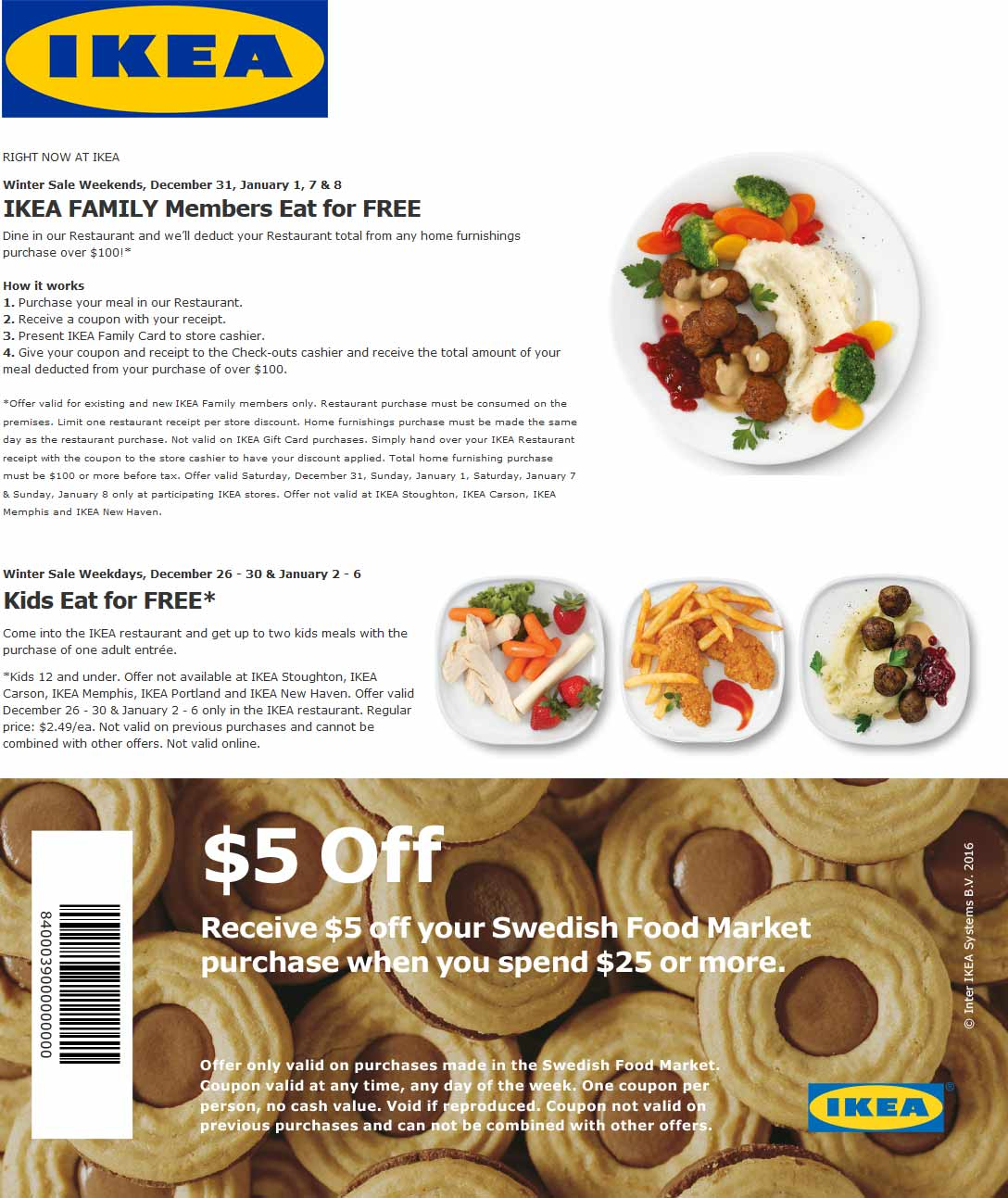 Ikea Coupons Eat Free With 100 Spent More At Ikea