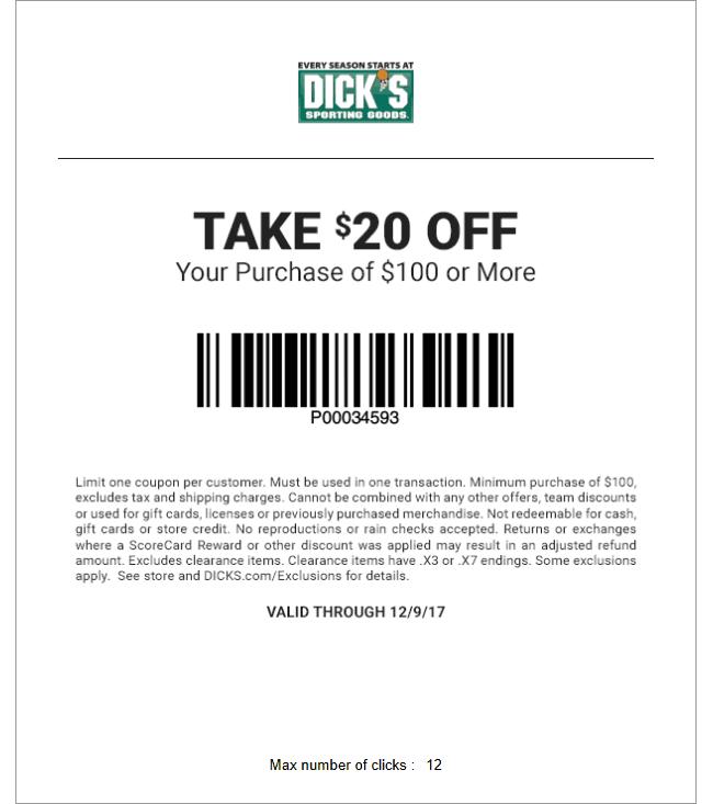 dicks coupons dec 2019