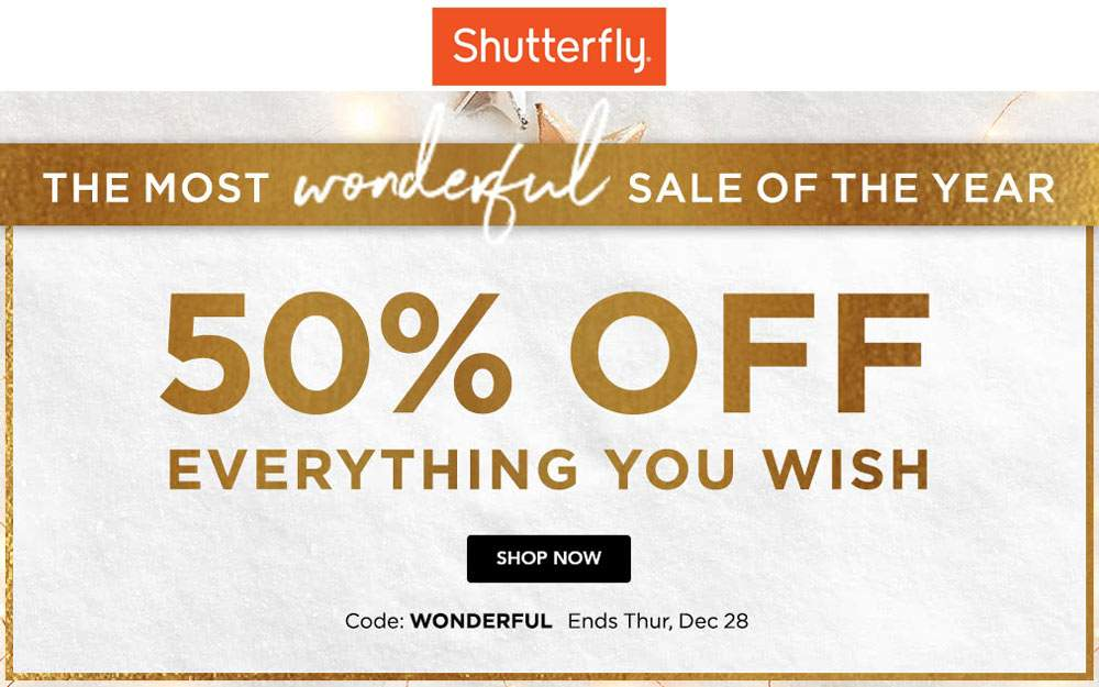 Shutterfly Coupon Codes November 2019