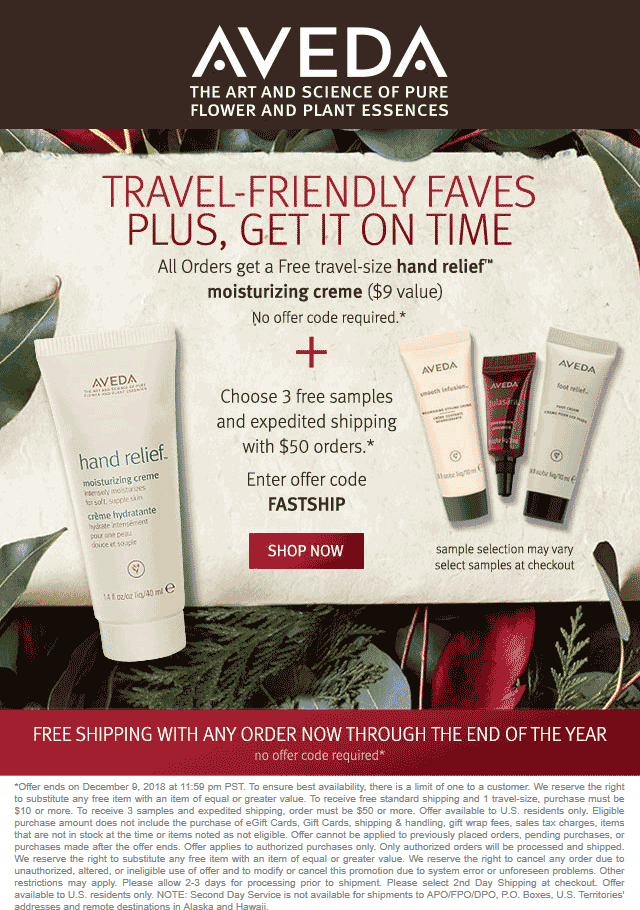 Aveda coupons & promo code for [August 2020]