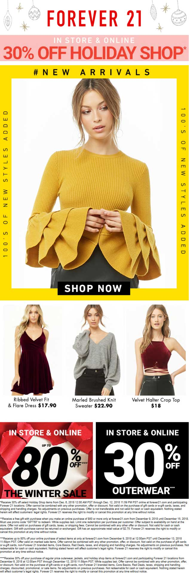 Forever 21 Coupon May 2020 30% off at Forever 21, ditto online