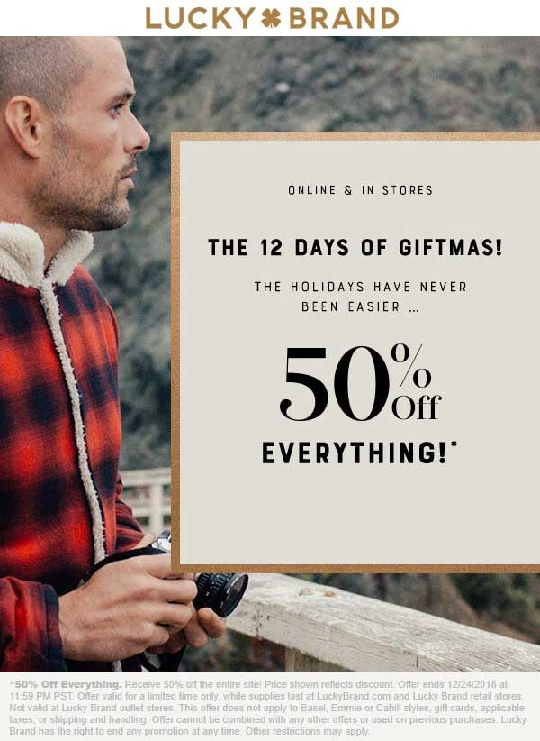 Lucky Brand coupons & promo code for [April 2020]
