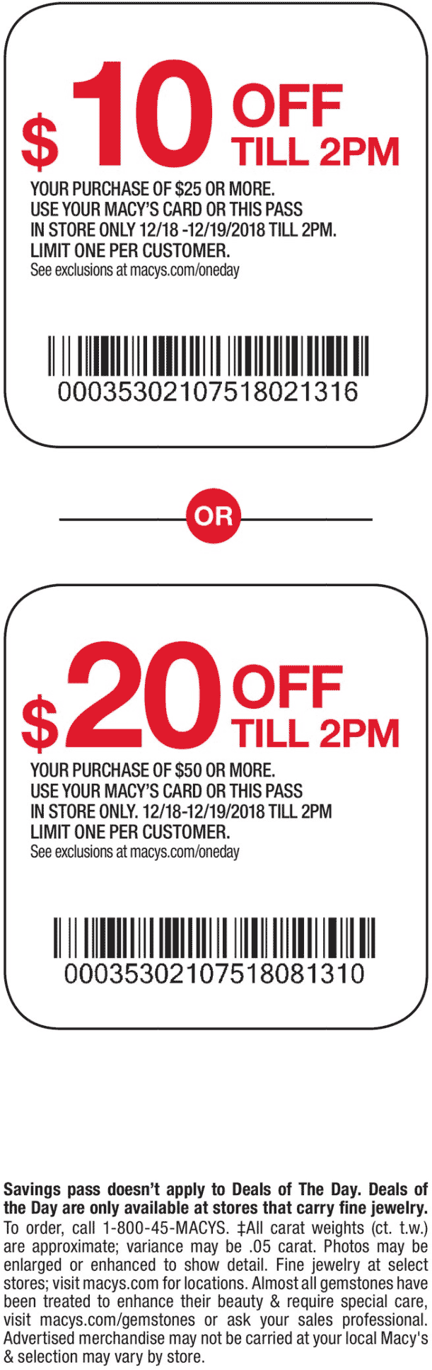 Macys Coupon July 2020 $10 off $25 & more til 2p at Macys