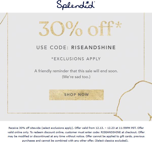 Splendid coupons & promo code for [April 2020]