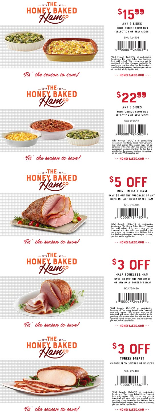 HoneyBaked coupons & promo code for [April 2020]