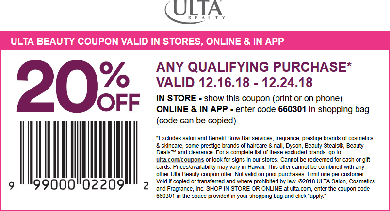 Ulta coupons & promo code for [June 2020]