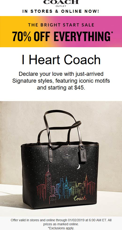 Coach coupons & promo code for [June 2020]