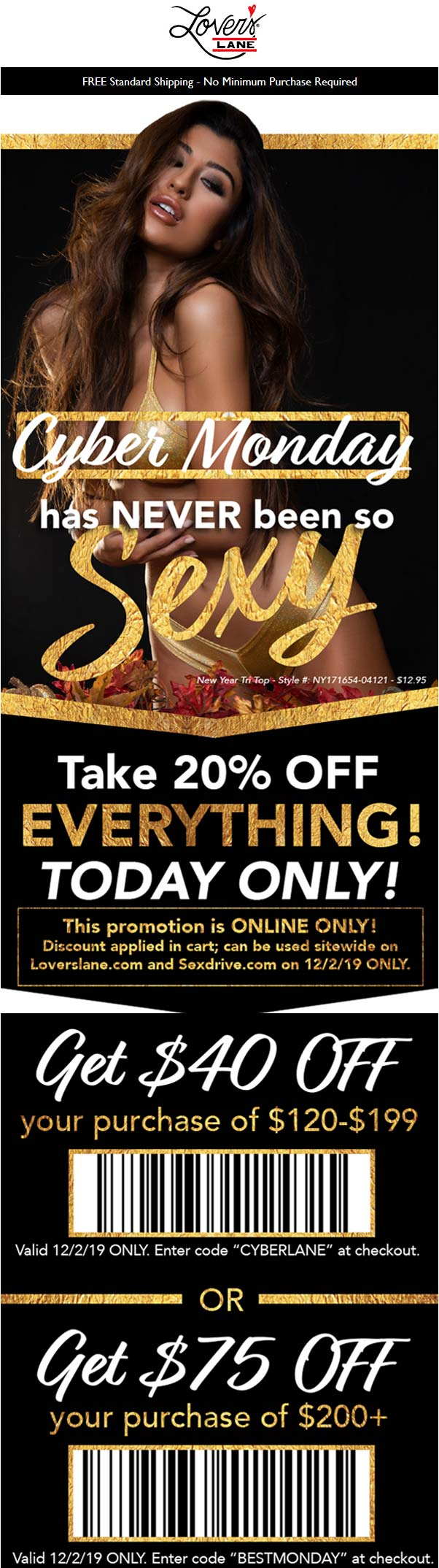 Lovers Lane coupons & promo code for [March 2020]