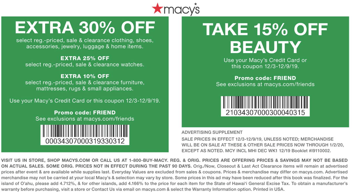 Macys coupons & promo code for [April 2021]