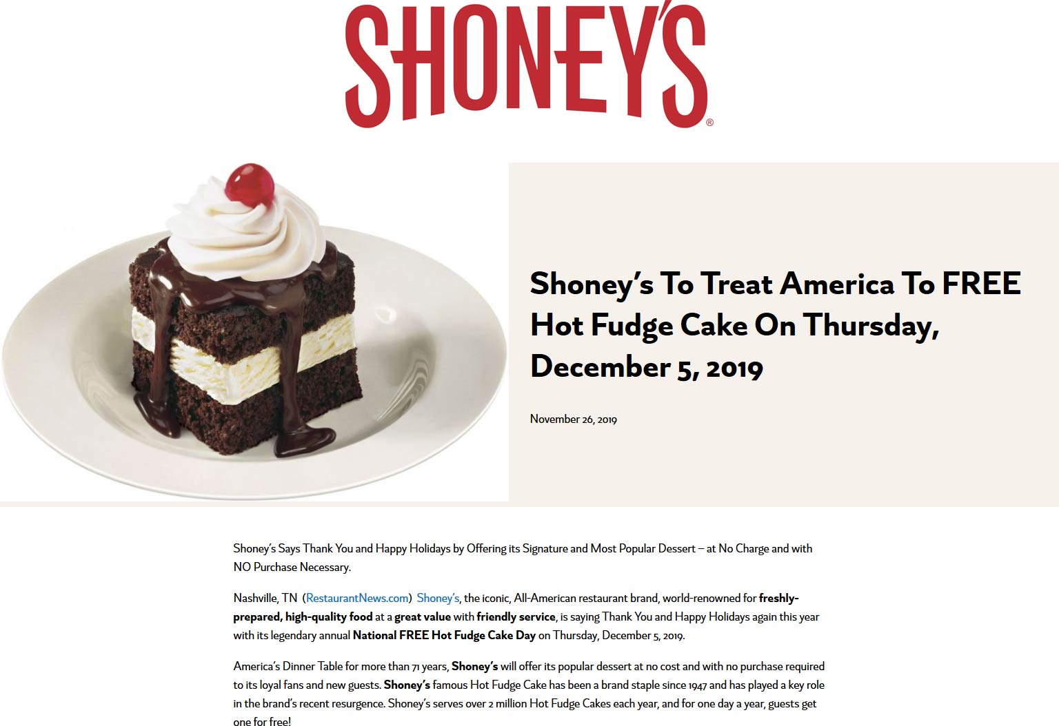 Shoneys coupons & promo code for [April 2021]