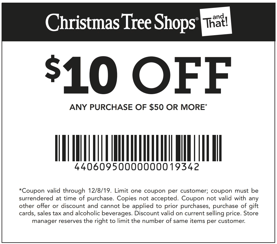 Christmas Tree Shops coupons & promo code for [April 2021]