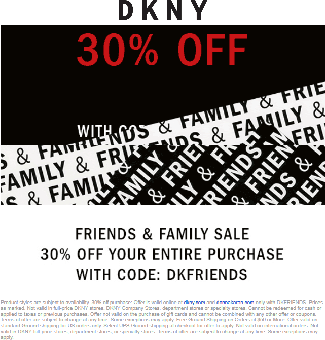 DKNY coupons & promo code for [February 2021]