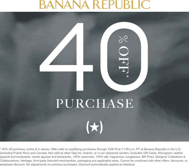 Banana Republic coupons & promo code for [April 2020]