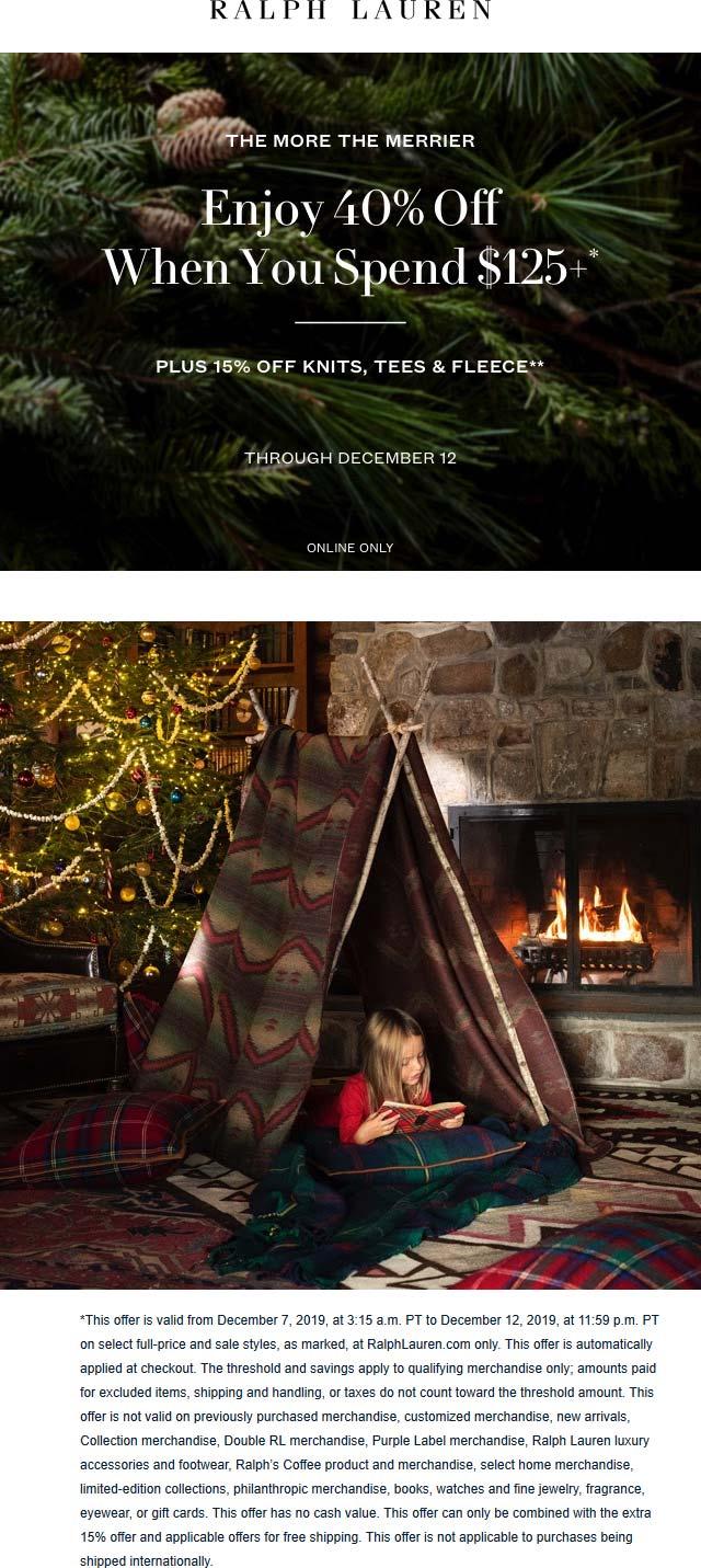 Ralph Lauren coupons & promo code for [December 2020]