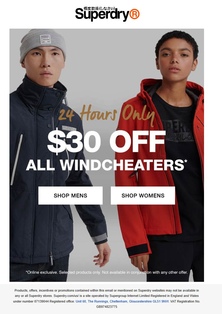Superdry coupons & promo code for [April 2021]