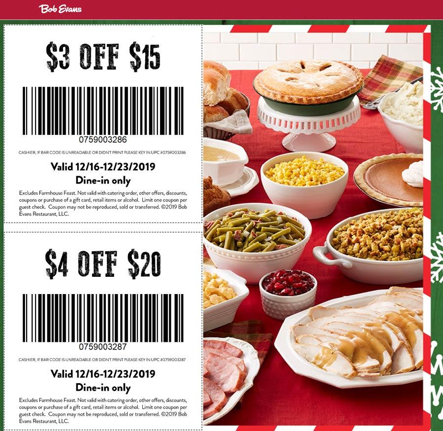 Bob Evans coupons & promo code for [April 2021]