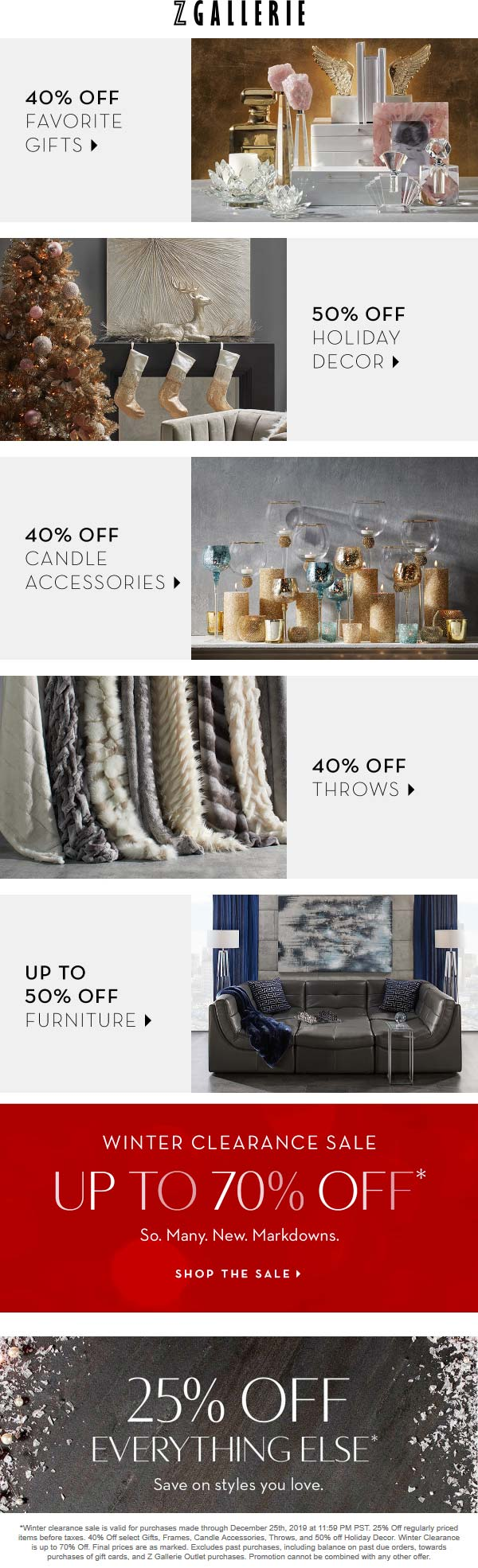 Z Gallerie coupons & promo code for [January 2021]