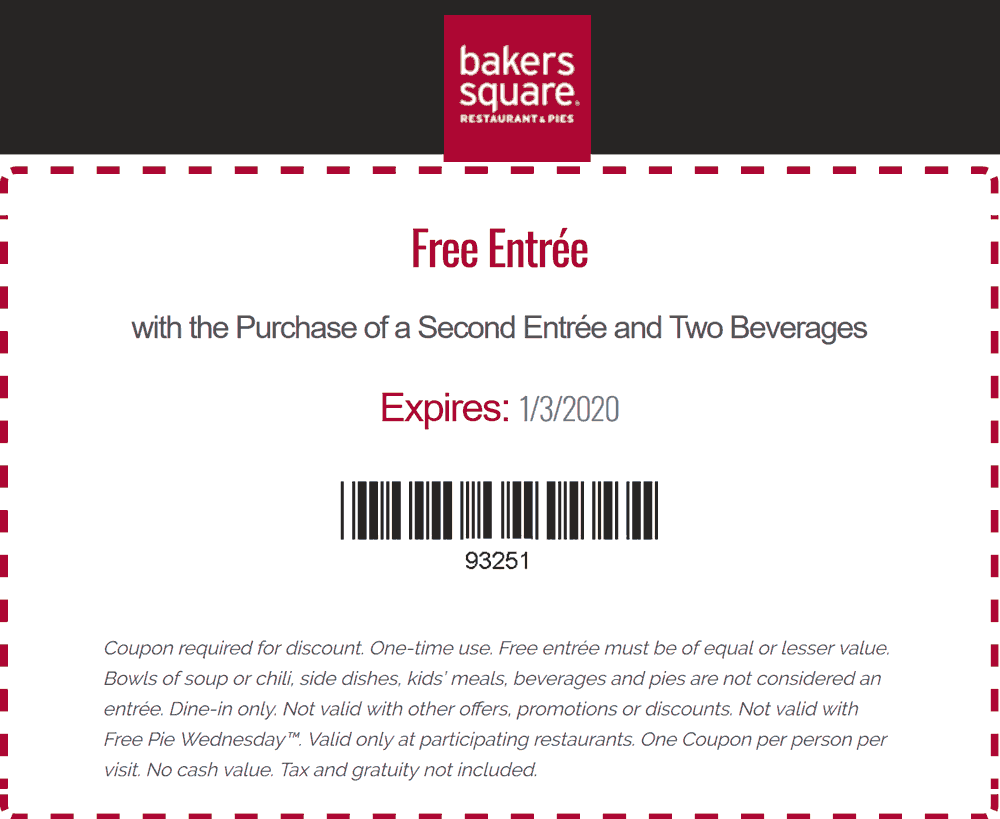Bakers Square coupons & promo code for [April 2020]