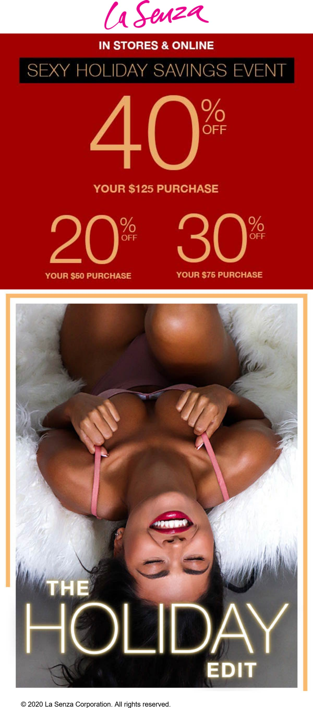 La Senza coupons & promo code for [January 2021]