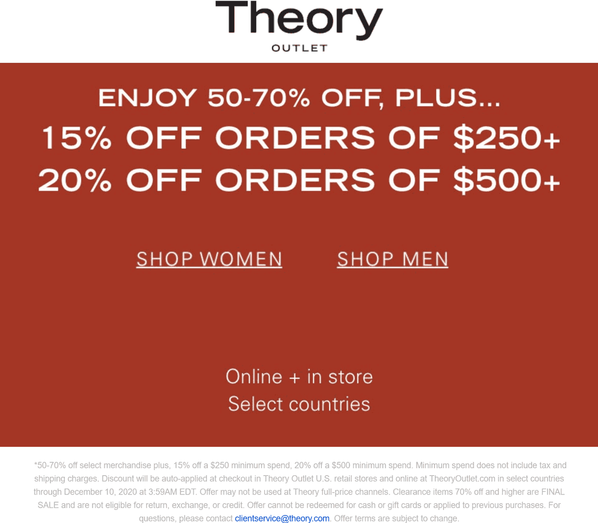 Theory Outlet coupons & promo code for [January 2021]