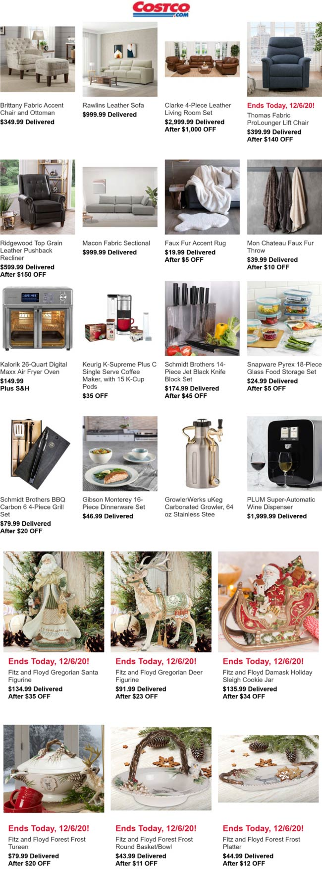 Costco stores Coupon  Various furniture & appliance deals going on today at Costco #costco