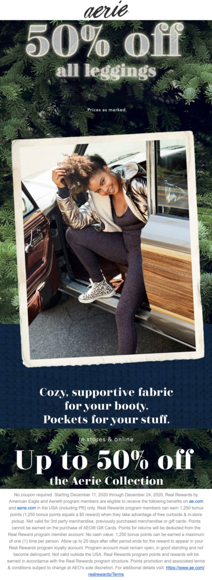 Aerie stores Coupon  50% off all leggings at Aerie #aerie