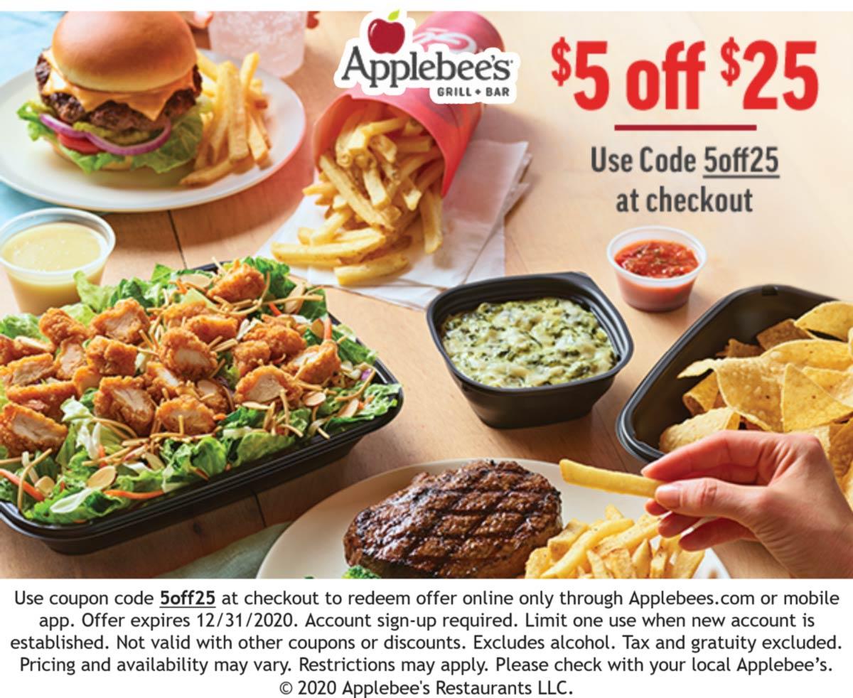 June, 12] $12 off $212 at Applebees via promo code 12OFF212 ...