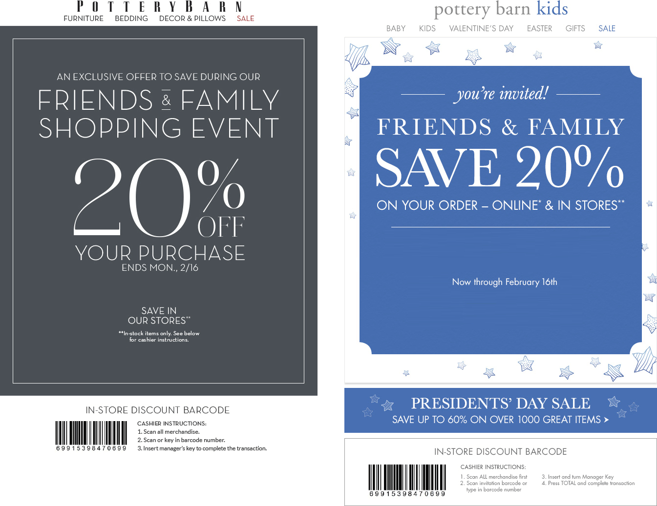 Pottery Barn Coupons 20 Off At Pottery Barn Amp Pottery