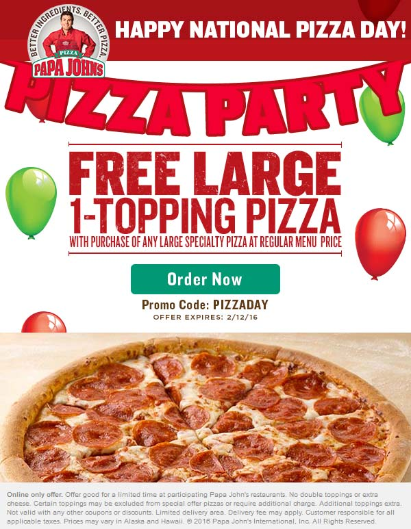 Past Papa John's Coupon Codes
