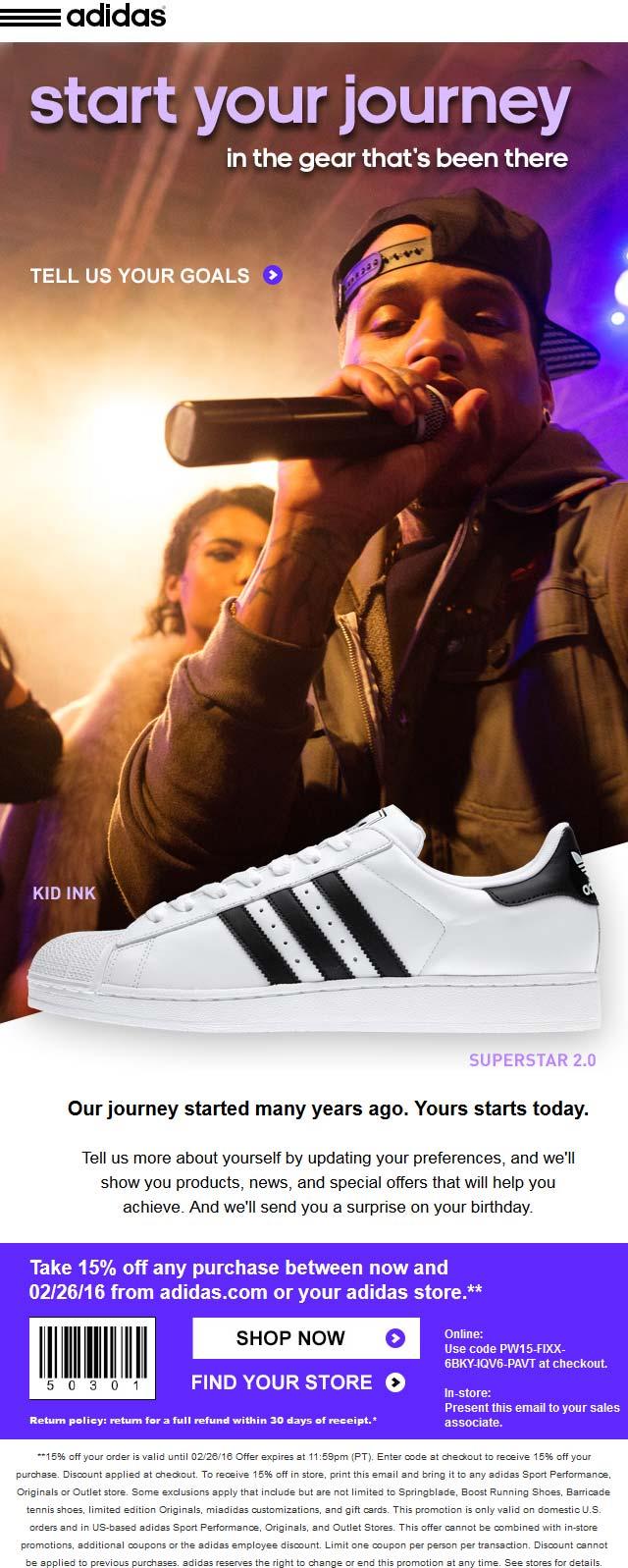 Coupon Adidas
