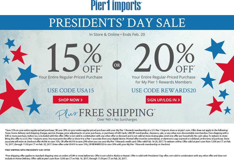 pier one printable coupon december 2019