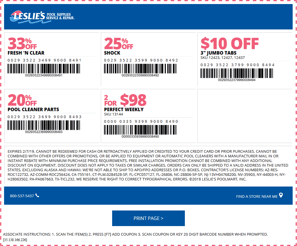 Leslies Pool Supplies coupons & promo code for [January 2021]